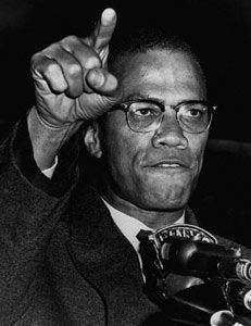 Malcolm X, he defined what a leader should be, strong, never backing down from what he believed in. An amazing life, book, and one of my all time heroes.
