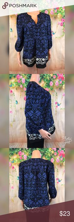 Floral print Loft blouse Very beautiful Floral print blouse with button front cuffed sleeves in euc care tag was removed material is Polyester LOFT Tops Blouses