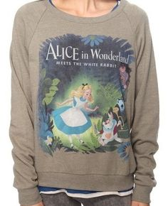 Forever 21 Alice In Wonderland Disney Sweater size Medium - eBay  My Reggie would love this.