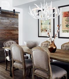 Rustic and refined dining room {PHOTO: Lisa Petrole}
