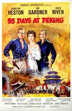 55 DAYS AT PEKING MOVIE POSTER-Charlton Heston/Ava Gardner/David Niven 1sht