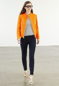 Emilio Pucci - love denim/navy & orange - ETC has a great tangerine denim jacket