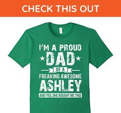 Mens Proud Dad Of Awesome Ashley Shirt, Father's Day 2017 Gift 2XL Kelly Green - Holiday and seasonal shirts (*Amazon Partner-Link)