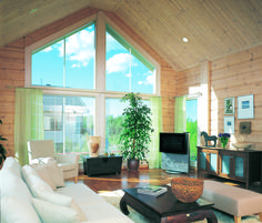 Cello is an classic log home with several areas for enjoying social life and tranquil relaxation.