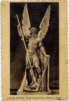 Michael the Archangel - New statue by sculptor Giuseppe Antonio Lomuscio installed today in the Vatican Gardens Angel Sculpture, Sculpture Art, Sculptures, Catholic Art, Religious Art, Cemetery Angels, Religion, Kunst Online, Angel Images