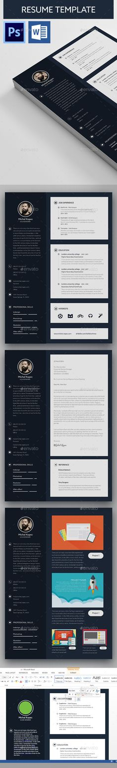 Modern Resume Template Modern, Modern resume template and Resume - templates for resumes microsoft word