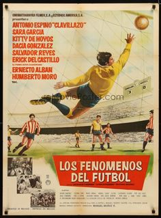Vintage Mexican football movie poster