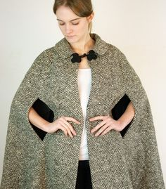 1950's wool cape - love it!  Looks nice and warm.