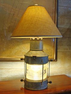 """Large Vintage Dutch Made Anchor """"Ankerlicht"""" Table Lamp"""