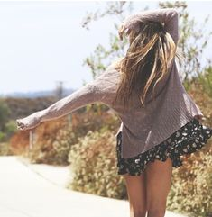 brandy melville Perfect autumn style oversized sweaters + floral skirts