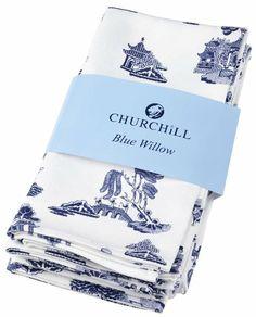 Amazon.com - Churchill Blue Willow Cotton Napkins (Set of 4) -