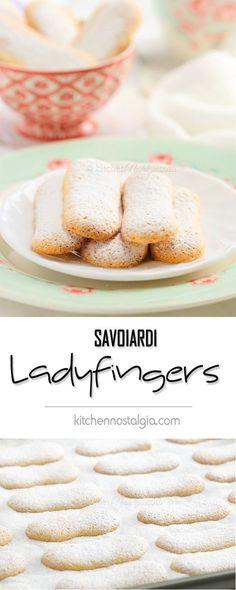 Ladyfingers (Italian Savoiardi biscuits) - homemade cookies essential for desserts like Tiramisu, Banana Pudding or trifles