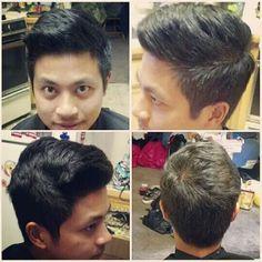 Before mens haircut