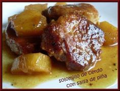 Solomillo de cerdo con salsa de pińa
