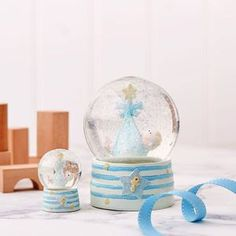 Baby Boy Snow Globe - snow globes & ornaments