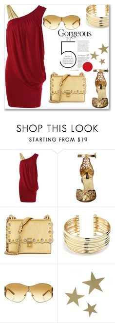 """""""Elegant"""" by boky-d ❤ liked on Polyvore featuring Dolce&Gabbana, Fendi, Belk Silverworks, Louis Vuitton and VANINA"""