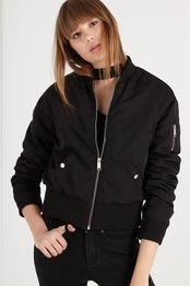 milly high basque bomber jacket
