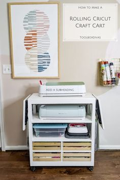 What to do with all the great Cricut stuff you received over the holiday??? Look no further! Check out @toolboxdivas today, on how you can build your own Cricut Craft Cart! #woodworking #cricut #diy #easy #craft #cart #storage #furniture #organization #project Fun Crafts For Kids, Creative Crafts, Easy Crafts, Folding Shelf Bracket, Craft Storage Cabinets, Custom Crates, Mobile Craft, Toy Storage Boxes, Cricut Craft