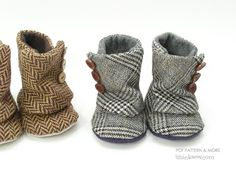 Toddler Button Boots PDF Pattern -- so cute it hurts