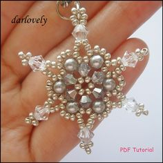 Shimmering Snow Flake Charm by darlovely | JewelryLessons.com