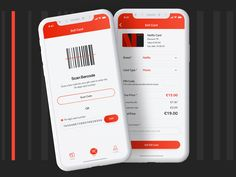 Swapify - Sell Gift Card by Eugene Barkouski on Dribbble Front End Design, Sell Gift Cards, Iphone Ui, Gift Card Template, Scanner App, Ticket Design, Mobile Design, Design Thinking, Ui Design
