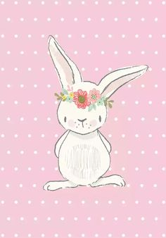 - - - CRAFT ROOM DECOR!!! ]]] Cute Images, Cute Pictures, Cute Wallpapers, Wallpaper Backgrounds, Wallpaper Fofos, Craft Room Decor, Some Bunny Loves You, Bunny Party, Bunny Birthday