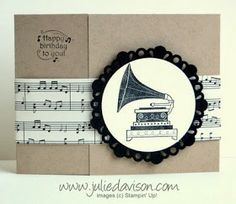 Julie's Stamping Spot -- Stampin' Up! Project Ideas Posted Daily: Timeless Talk Gate Fold Card