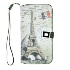 "Generic Paris Eiffel Tower PU Leather Flip Cover Case for Samsung Galaxy S4 S IV i9500 5.5"" x 2.9"" x 0.5"""