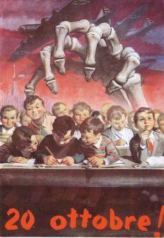 """20 ottobre 1944.     """"Erano tutti là…per terra. La mia bambina ha perso la cartella. Io non ho più neanche il ricordo dei suoi libri…dei suoi…niente…dei suoi quaderni. C'erano là tutti questi bambini per terra…così""""...    I Cosi detti """"liberatori"""""""