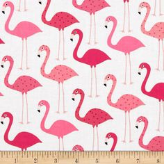 1 FQ Ann Kelle Urban Zoologie Flamingos ~ White or Pink color ~ Robert Kaufman Cotton Quilt Fabric Flamingo Fabric, Flamingo Print, Pink Flamingos, Flamingo Pattern, Nautical Baby Bedding, Baby Bedding Sets, Easy Sewing Projects, Craft Projects, Sewing Ideas