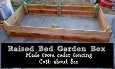 A completed raised bed (upside down) The stakes will hold it in place in the garden | PreparednessMama