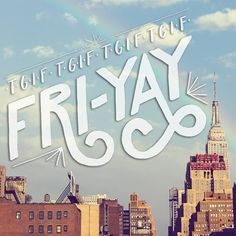 Happy Fri-YAY!! For all those wild, restless hearts.  #friyay #design #lettering #typography #travel