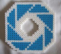 Perler beads Aperture Science Logo