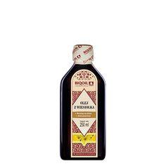 Tłoczony na zimno olej z wiesiołka - bogactwo naturalnego kwasu GLA. Sprawdź! Jack Daniels Whiskey, Sauce Bottle, Whiskey Bottle, Drinks, Omega, Drinking, Beverages, Drink, Beverage