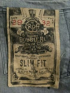 Double RL Slim Fit Tag