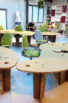 Cardboard design desk - HUB - ArchiExpo