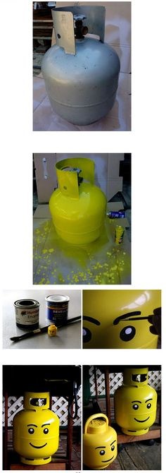 What a cute idea for the old propane tanks you refuse to trade in.
