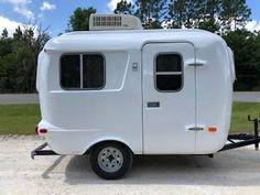 Fema Trailers For Sale, Small Camper Trailers, Small Travel Trailers, Tiny Camper, Small Trailer, Small Campers, Campers For Sale, Woodworking Tools, Caravan