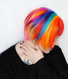 SALE Rainbow wig Short Bob wig Scene wig Cosplay by MissVioletLace