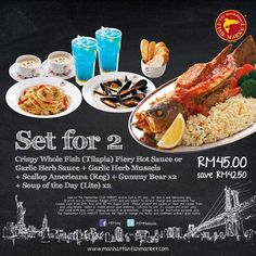 The Manhattan Fish Market's Set for 2 Coupon (Promotion Period: 24th July 2013 – 4th August 2013) http://www.mudah.co/the-manhattan-fish-markets-set-for-2-coupon/2808/