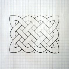 How to Draw a Celtic Knot Pattern. It took a few tries before the directions made sense (no fault of the author), but now I love drawing these things.