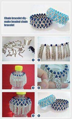 Stellar DIY Chain Bracelet with Pearl Beads