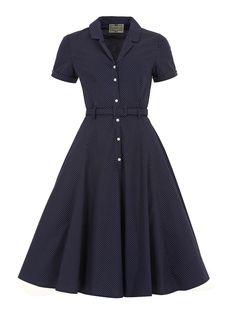 Caterina Polka Dot Shirt Swing Dress