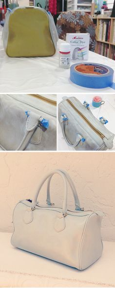 Easy Diy Dye An Old Leather Purse And Make It Beautiful Again