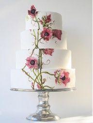 painted floral wedding cake #celebstylewed