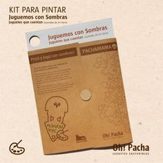 Kit para Pintar PACHAMAMA  Juguemos con Sombras! Kit, Ideas, Ethical Fashion, Shopping, Boy's Day, Silhouette, Games, Green, Thoughts