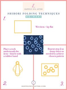 Eva Amurri shares a an easy Shibori Tie Dye How-To, including materials, what to dye, step by step instructions, and her favorite Shibori pieces. Shibori Tie Dye, Tie Dyed, Cotton Crafts, Indigo Dye, Tie Dye Dress, Step By Step Instructions, Diy, Heart, Indigo