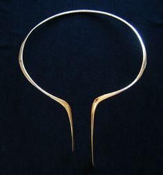 Modernist / Studio Artist / Betty Cooke 14kt yellow gold neck collar, circa-1970's, SOLD