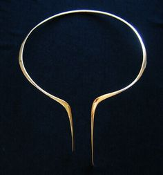 Betty Cook | 14kt yellow gold neck collar, circa-1970's