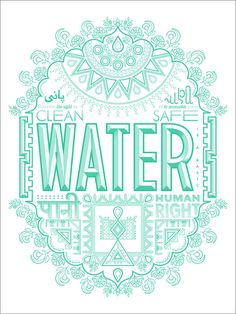 Charity: Water poster via designworklife India Poster, Charity Water, Type Illustration, Typography Logo, Logos, Indian Patterns, Branding, Sale Poster, Graphic Design Posters